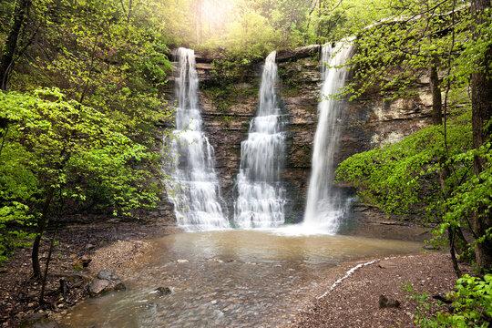 Triple Falls Waterfalls in the Arkansas Ozark Mountains