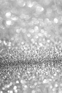 White glitter with shallow depth of field