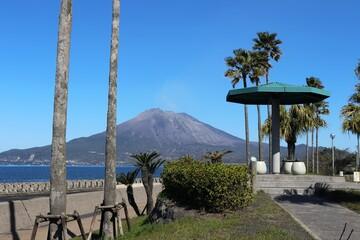 荒崎パーキングから見る桜島