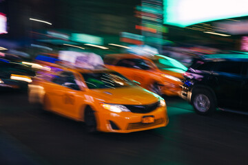 Yellow Taxi in Manhattan, New York