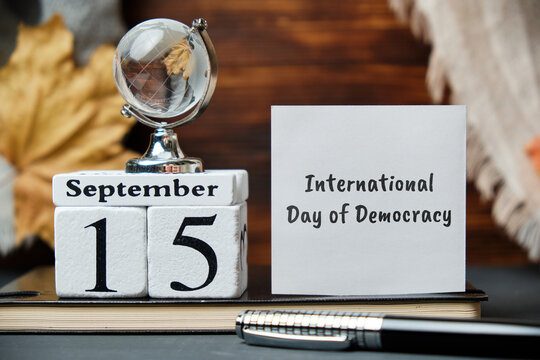 International Day of Democracy day of autumn month calendar september