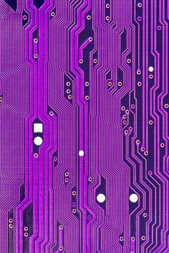 Purple printed circuit board macro
