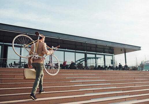 Businessman With a Bike