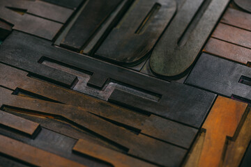 Wood type Letters Background