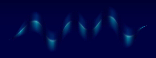 Sound wave background. Vector music frequency bar. Abstract audio sound wave pattern. Music pulse background. Audio track graph of frequency. Soundwave line with gradient effect. Vector