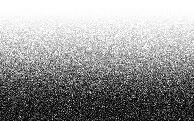 Dotwork gradient pattern vector background. Black noise stipple dots. Sand grain effect. Black dots grunge banner. Abstract noise dotwork pattern. Gradient circles. Stochastic dotted vector background