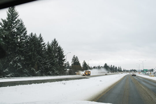 Snow plow and winter roads