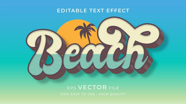summer beach editable text effect concept