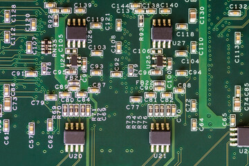 Green Printed Circuit Board Background