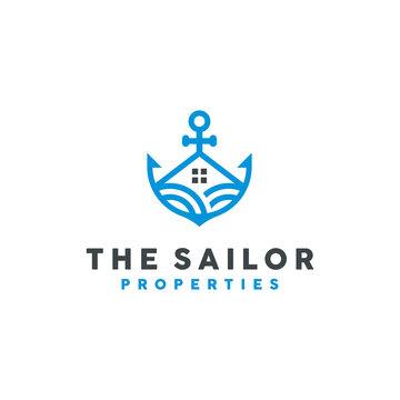 Unique Property Logo Design Template