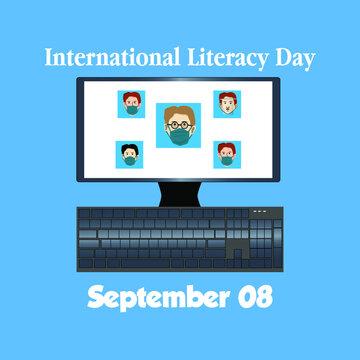 Happy international literacy day concept. illustration vector