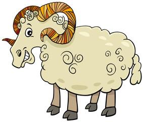 funny ram farm animal cartoon character
