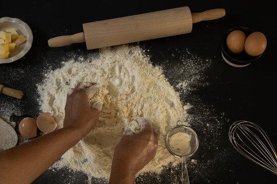 making a dough