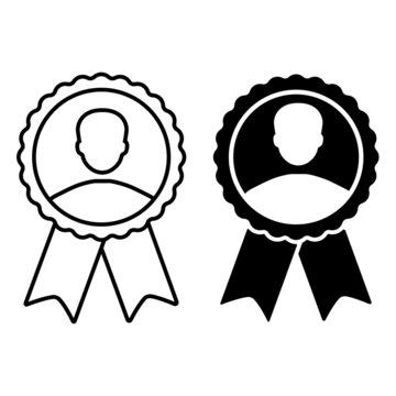 Ambassador icon vector set. Achievement illustration sign collection. quality symbol.