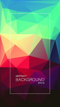 juicy geometric triangle. vertical background.