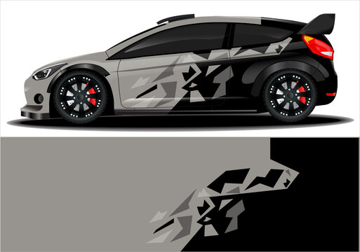 Sport car wrapping decal, print design
