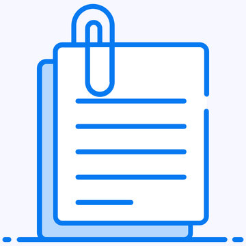Wire or plastic bent to hold paper, paper clip vector
