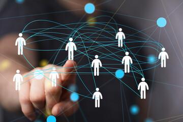 Fototapeta Business and communications group digital.