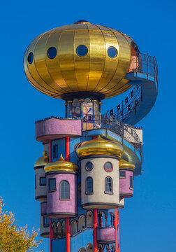 Hundertwasser Tower in Abensberg, Lower Bavaria, Germany