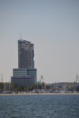 """Sea Towers"" sky scraper in Gdynia, Poland"