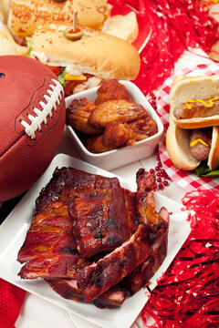 Football: Ribs, Sandwich, Wings For Party