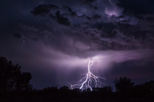 Storm and lightning bolt