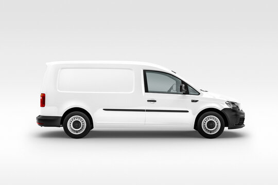 3d rendered white van