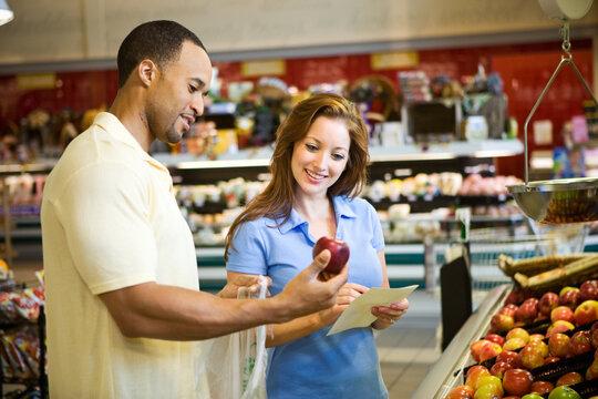 Supermarket: Deciding To Buy Apples