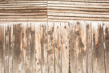 Old wooden wall as background.