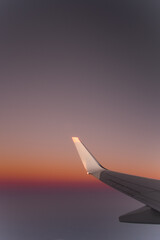 Wing of a commercial airline during flight
