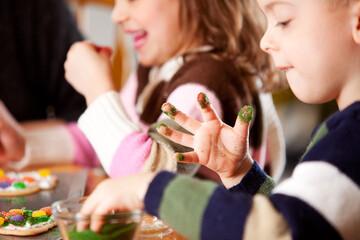 Gingerbread: Boy Gets Sprinkles All Over Fingers