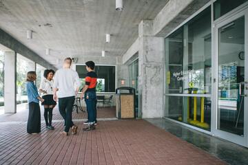 Young People in Urban Setting