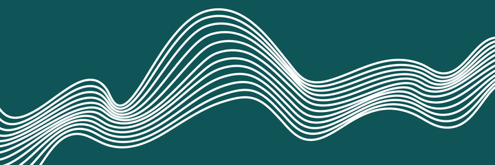 Abstract element with wavy, curved lines. Vector illustration of stripes with optical illusion