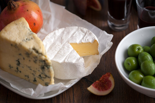cheese fruit and olives