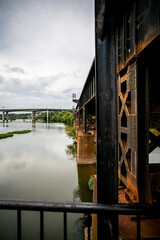 Train tracks on the river