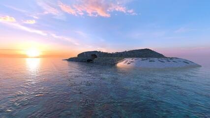 孤立した島