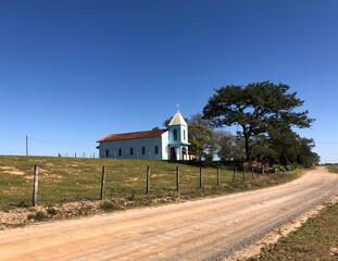 Small church in a village in the interior of Brazil