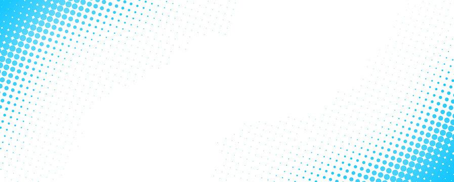 ドットで出来たブルーのグラデーションフレーム