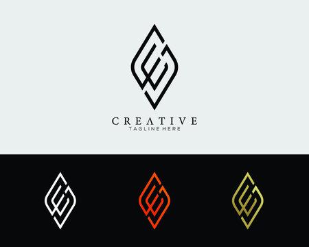 letter E and S design logo template  modern creative elegant