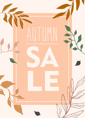 autumn sale sign