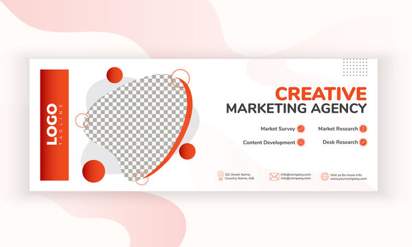 Modern Facebook cover design template