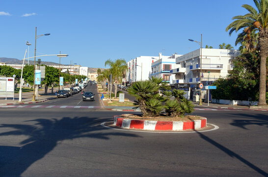 View on street in Agadir city, Morocco