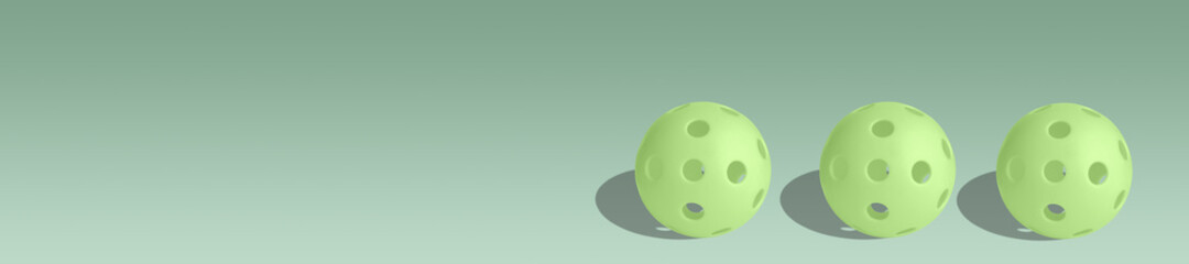 Light green pickleball or on light green background.