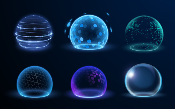 Different energy protection spheres set