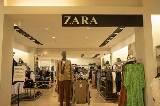 London- Interior of Zara, a Spanish clothes retailer