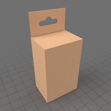 Retail hanging cardboard box 1