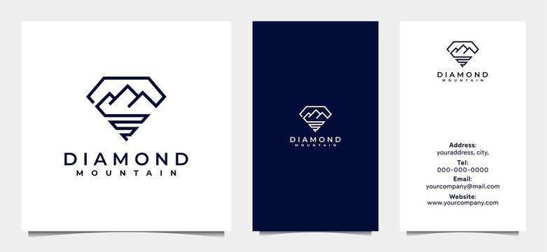 creative minimalist diamond house logo
