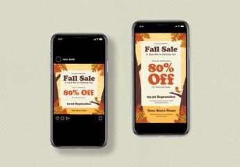 Fall Sale Social Media Post Layout