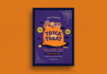 Trick or Treat Flyer Layout
