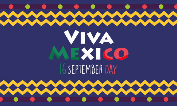 mexican independence day, colored banner festival viva mexico is celebrated on september